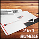 Creative Business Card - 2 in 1 Bundle  - GraphicRiver Item for Sale