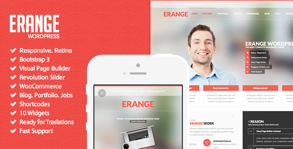Erange – Responsive Multipurpose WordPress Theme