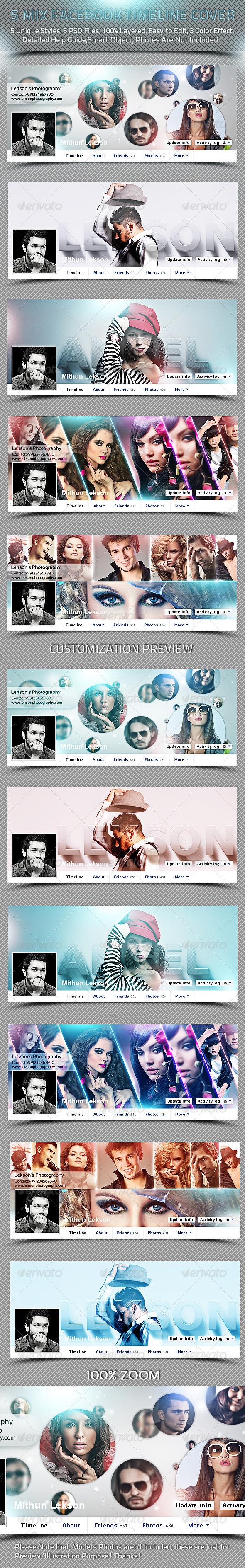 5 Mix Facebook Timeline Cover - Facebook Timeline Covers Social Media