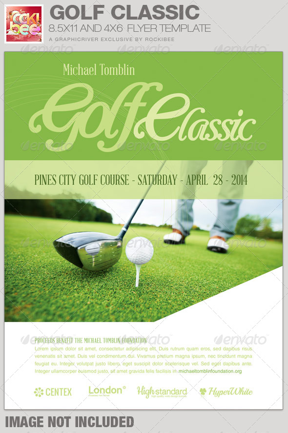 Golf Classic Event Flyer Template By Rockibee GraphicRiver - Golf brochure template