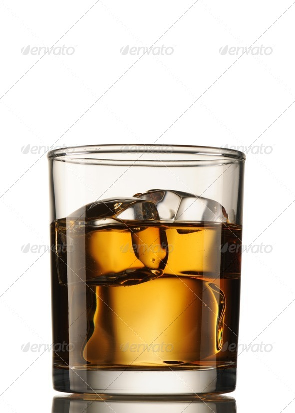 Scotch on the Rocks - Stock Photo - Images