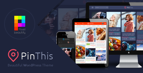 PinThis – Pinterest Style WordPress Theme