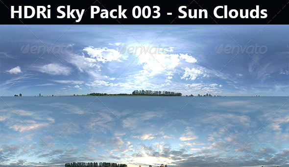 2 HDRi Sky Pack 003 - Sun Cloud - 3DOcean Item for Sale