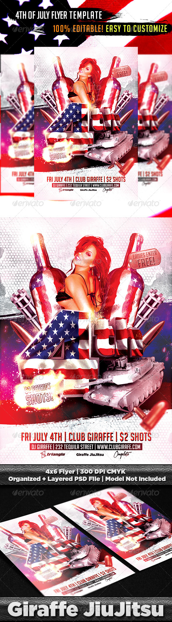 4th of july flyer template psd by giraffejiujitsu for 4th of july menu template