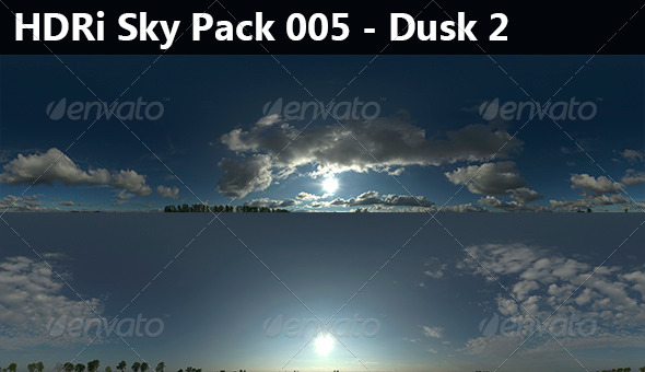 2 HDRi Sky pack 005 - Dusk 2 - 3DOcean Item for Sale