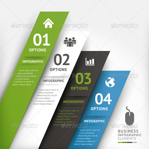 Modern Infographic Design Element Template. by graphixmania ...