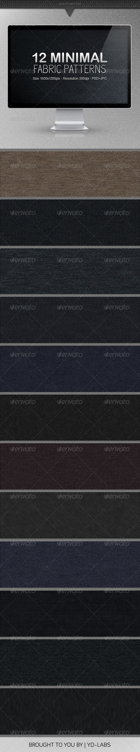 12 Minimal Fabric Patterns - Patterns Backgrounds
