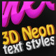 3D Neon Text Styles v.1 - GraphicRiver Item for Sale