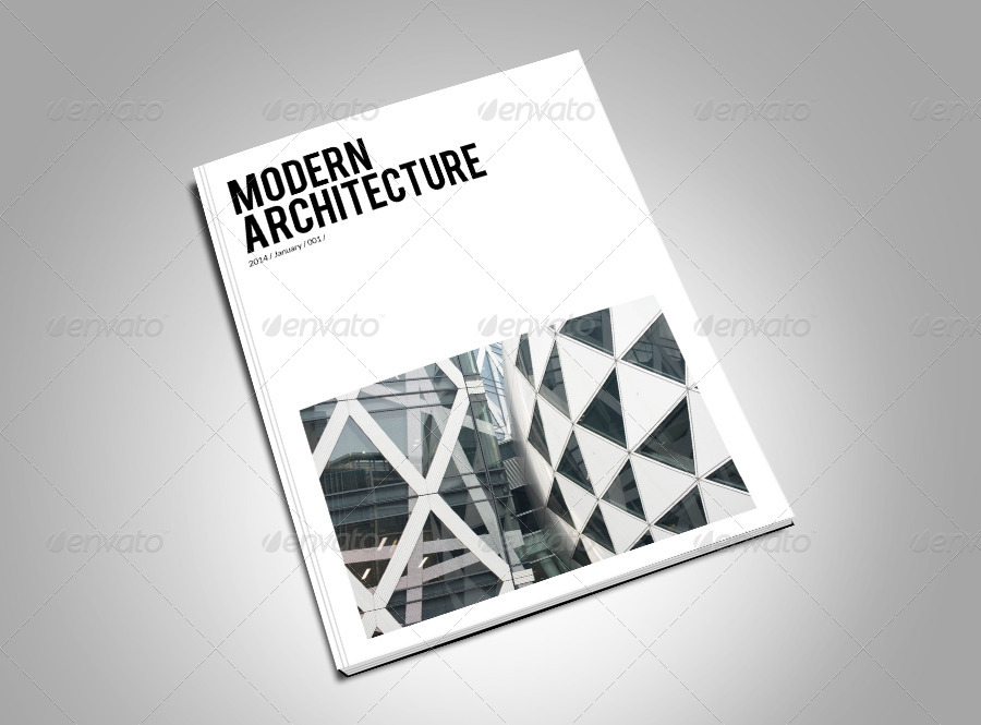 Modern Architecture Magazine Template by Milos83 | GraphicRiver