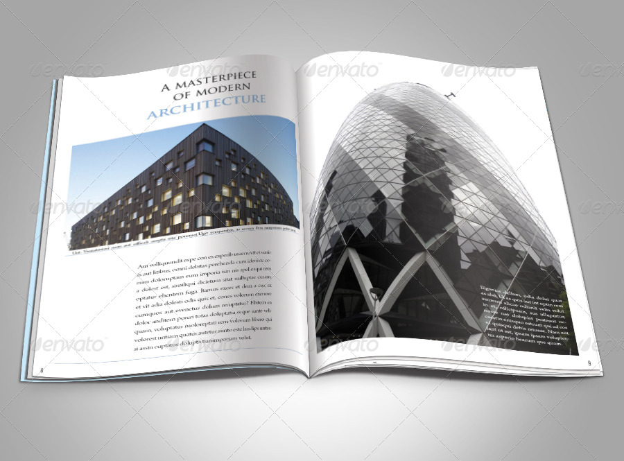 Modern Architecture Magazine Template By Graphicriver