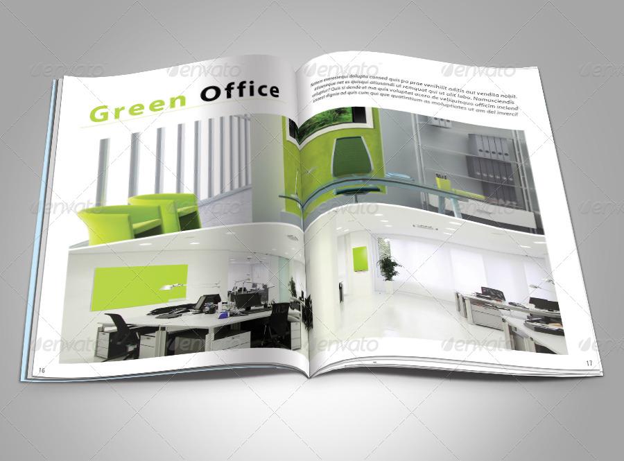 Modern architecture magazine template by milos83 for Architectural design magazine