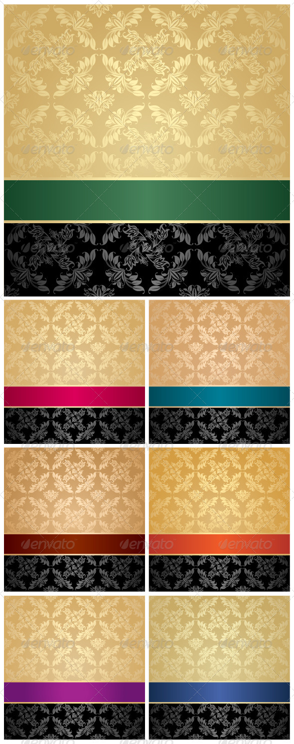 Seamless Pattern, Floral Decorative Background - Backgrounds Decorative