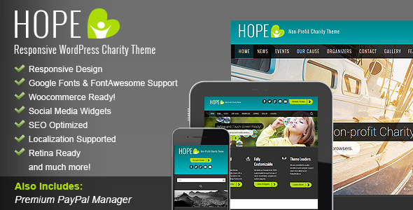 HOPE – Responsive WordPress Charity Theme
