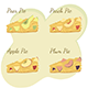 Slices of Apple, Pear, Peach and Plum Pie