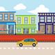 Urban Street Shop 2D Background - GraphicRiver Item for Sale