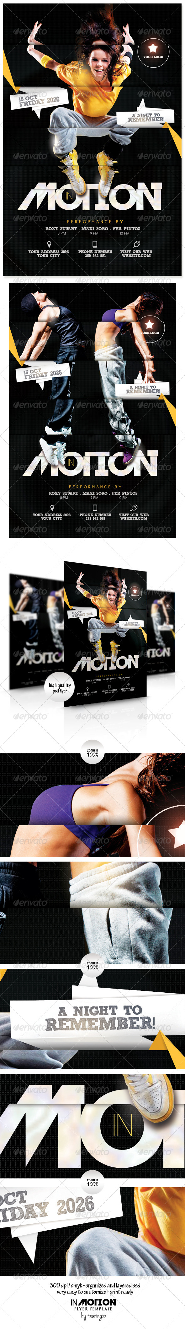 In Motion Flyer Template - Events Flyers