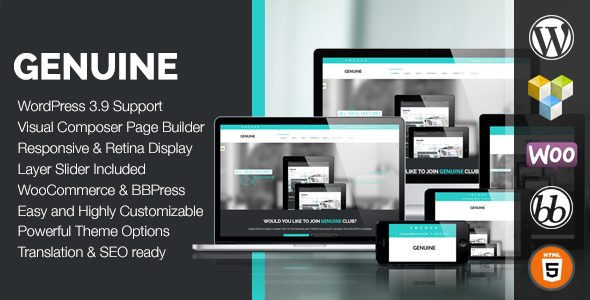 Genuine – Creative Responsive WordPress Theme