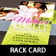 Mothers Day Dinner Show Rack Card Template