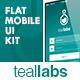 Teallabs - Modern & Cool Teal Flat Mobile UI Kit - GraphicRiver Item for Sale