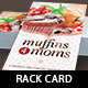 Muffins for Moms Event Rack Card Template