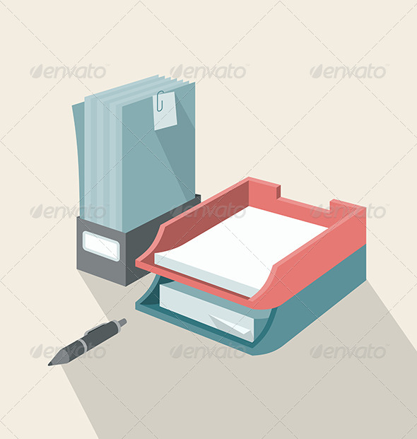 Trays for Papers - Objects Vectors
