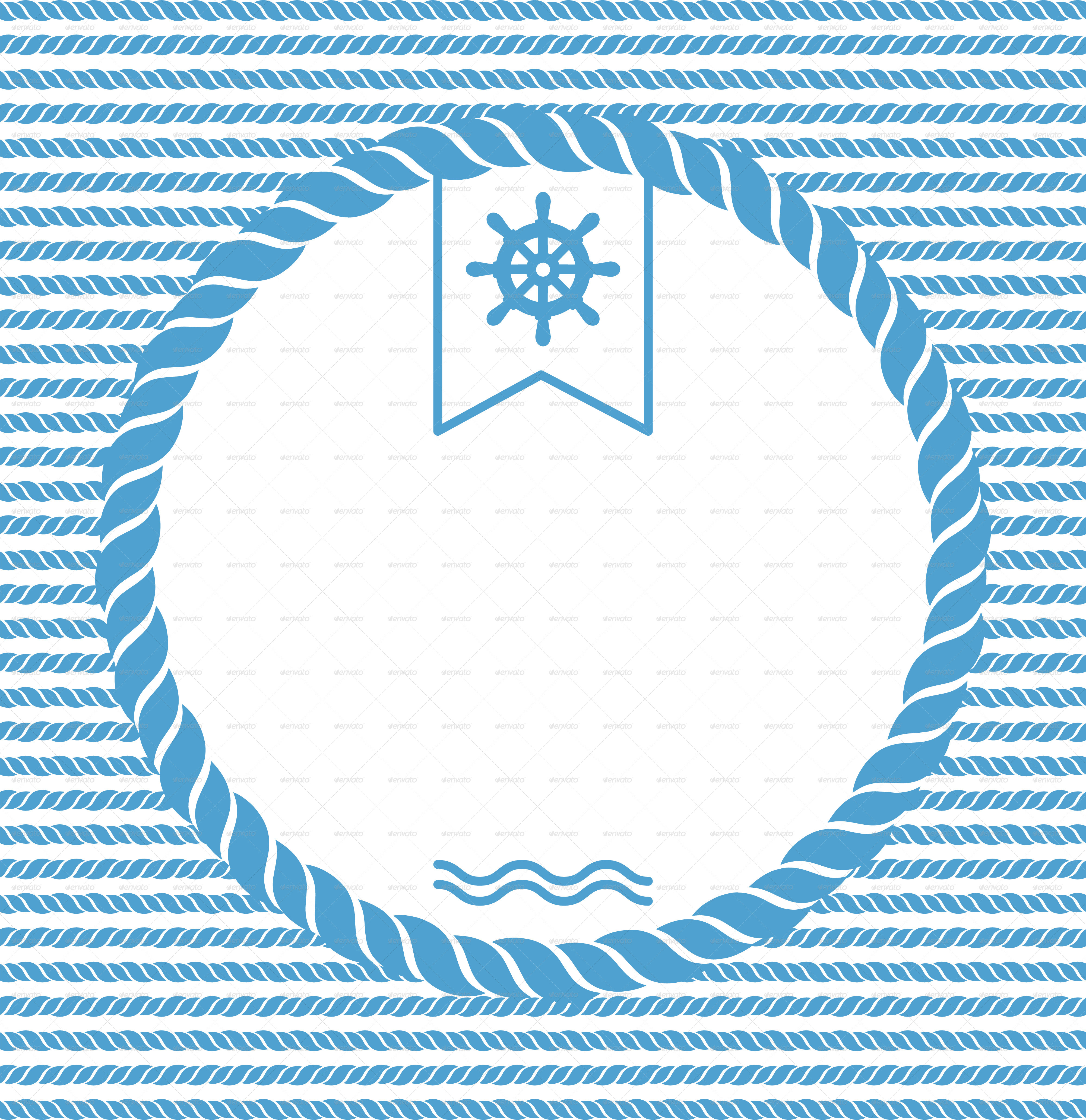 Nautical Background with Ropes by valru | GraphicRiver