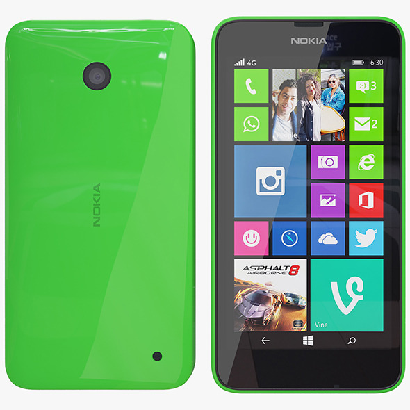 Nokia 635 green - 3DOcean Item for Sale