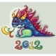 Vector Cute Happy Dragon - GraphicRiver Item for Sale