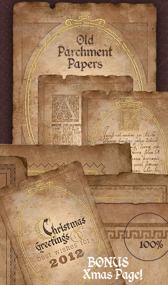 Vintage Parchment Paper - Historical Documents - Backgrounds Graphics