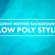 Low Poly Background Video Of Moving Polygons - VideoHive Item for Sale