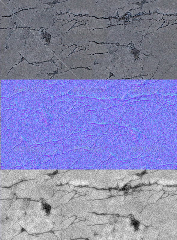 cracked-concrete - 3DOcean Item for Sale