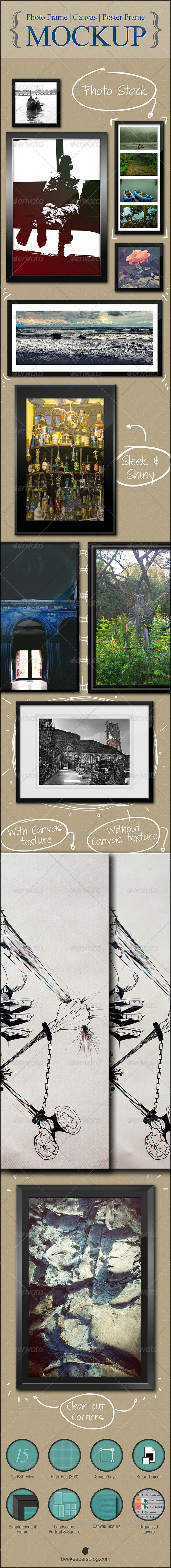 Photo | Canvas | Poster Frame - Mockup - Posters Print
