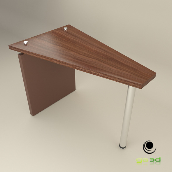 Office Wedge Table - 3DOcean Item for Sale