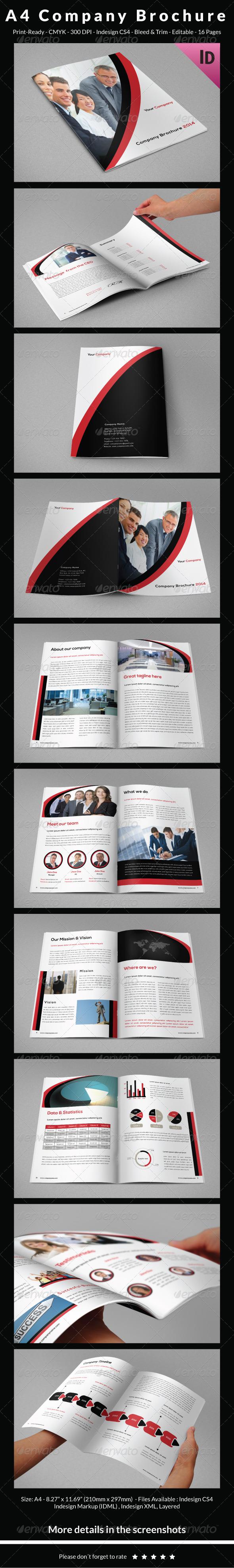 A4 Company Brochure  - Corporate Brochures