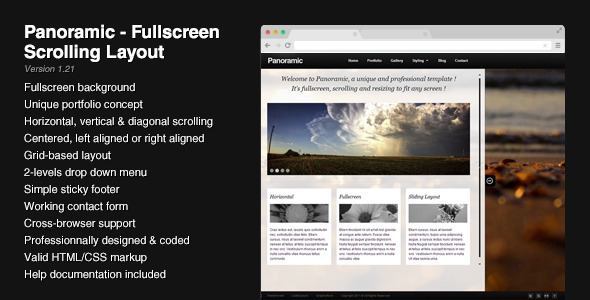Free Download Panoramic - Fullscreen Scrolling Layout Nulled Latest Version