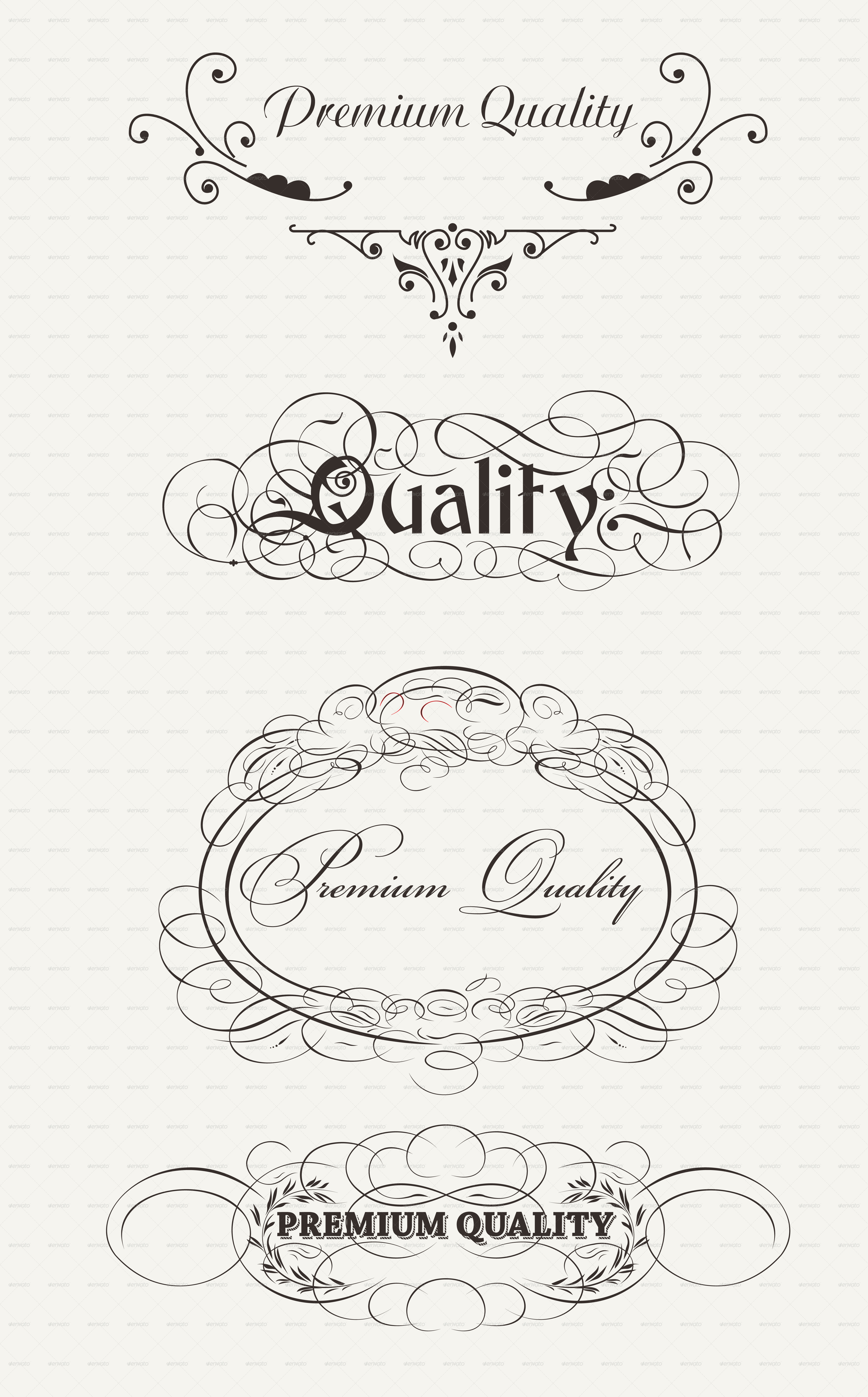 Retro Elements Collection For Calligraphic Designs