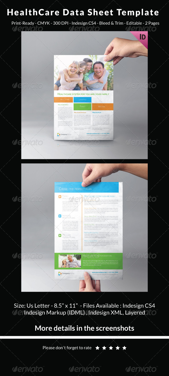 HealthCare Data Sheet Template by carlos_fernando | GraphicRiver