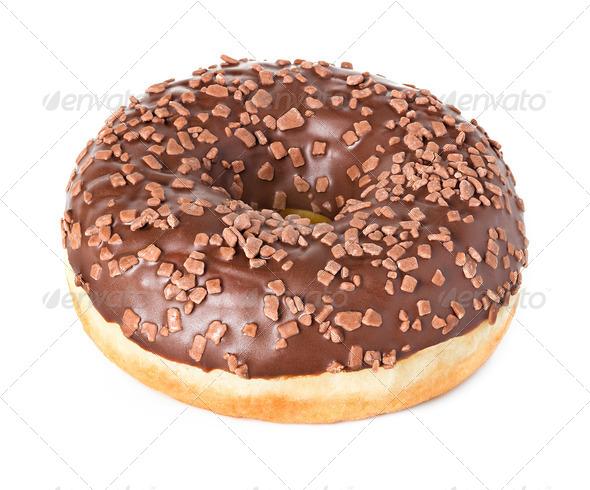 Donut isolated on white background - Stock Photo - Images
