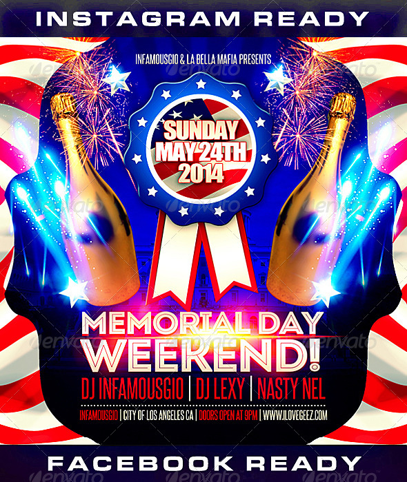 Memorial Day 1 by infamousgio | GraphicRiver