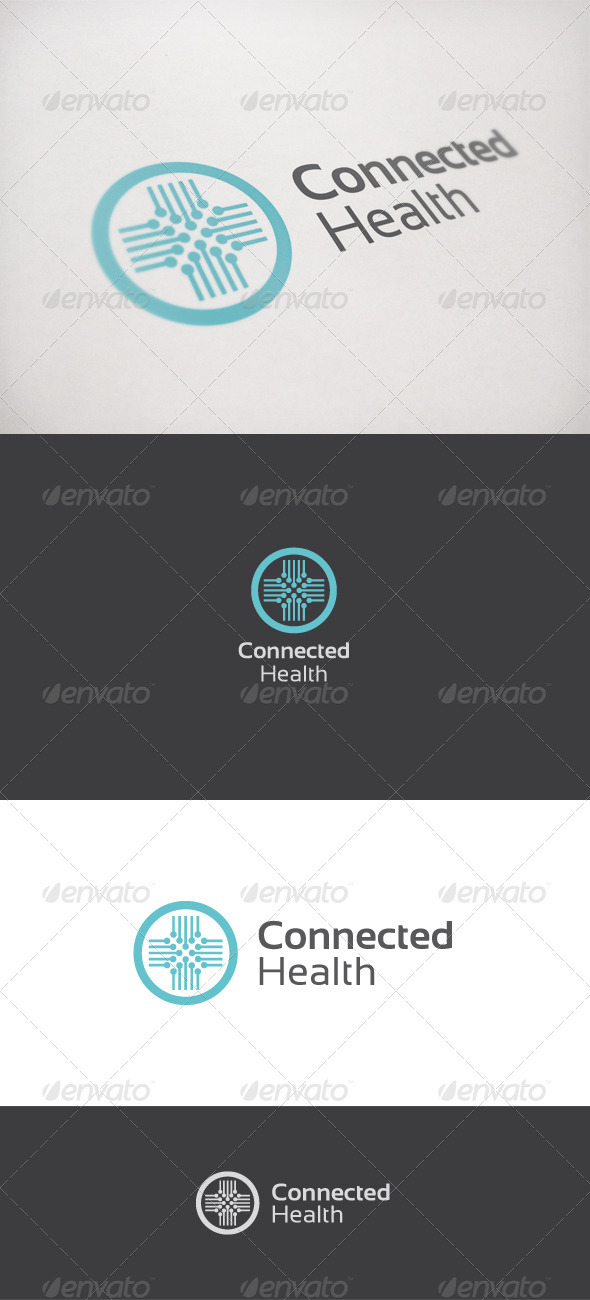 Connected Health - Symbols Logo Templates
