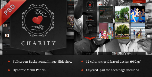 Charity PSD Template - Creative PSD Templates