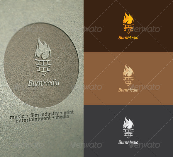 Burn Media Logo - Abstract Logo Templates