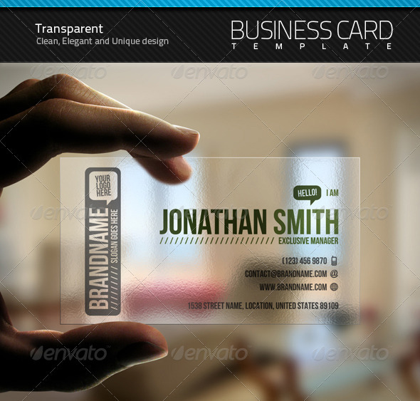 Transparent Business Card - Creative Business Cards