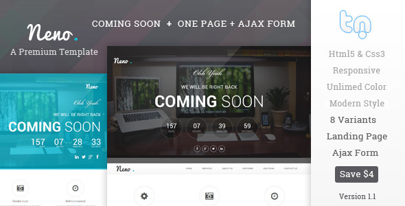 Neno – Premium Coming Soon Template