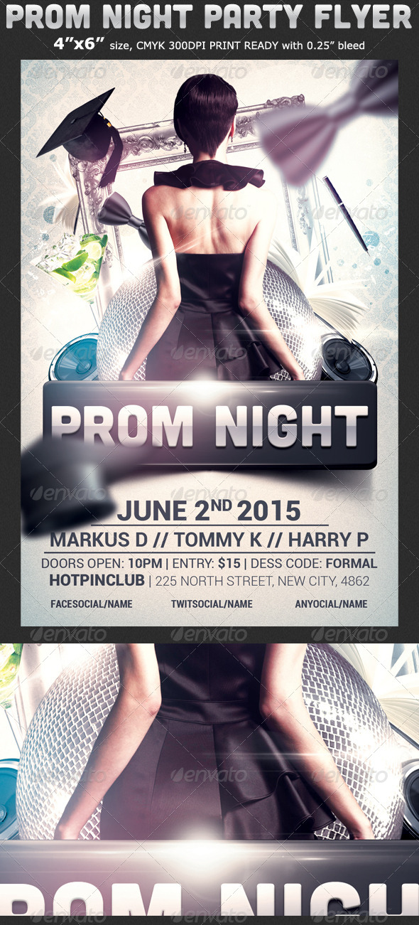 Prom Graduation Party Flyer Template By Hotpin  Graphicriver