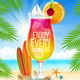Cocktail and Summer Greeting on Tropical Beach - GraphicRiver Item for Sale