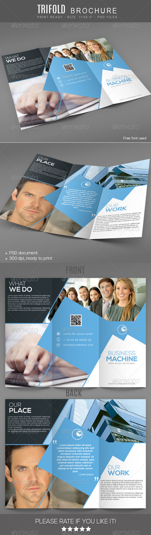 Business machine Trifold Brochure - Corporate Brochures