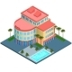 Hotel Building Isometric - GraphicRiver Item for Sale