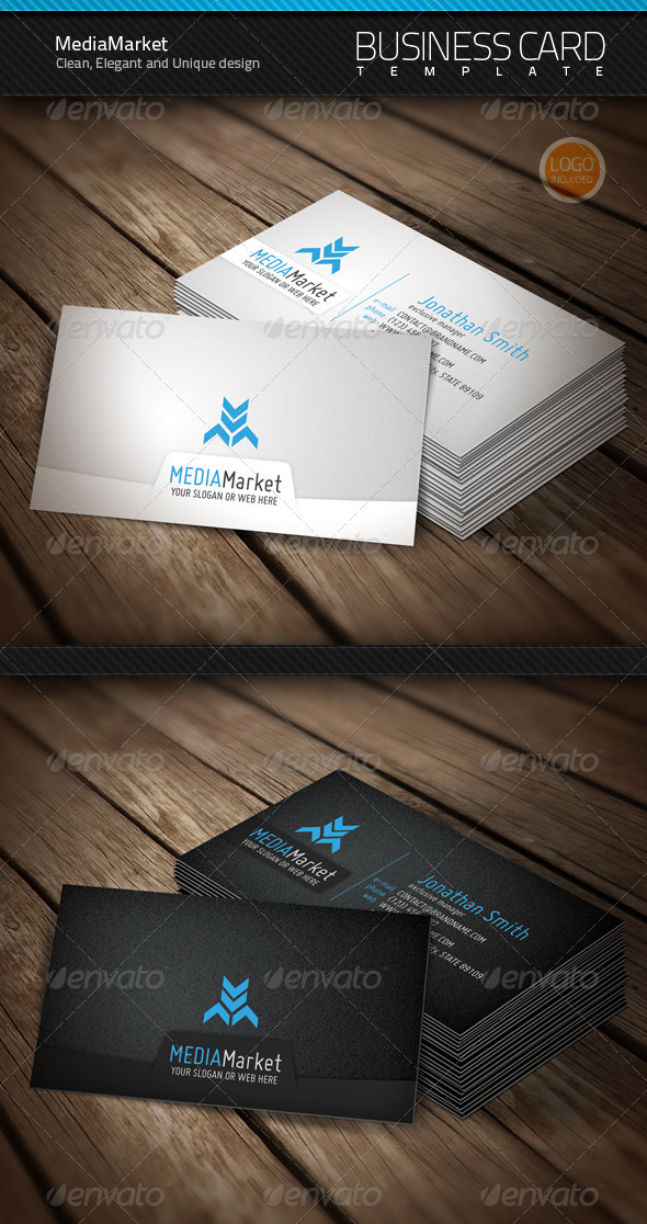 MediaMarket Business Card & Logo - Corporate Business Cards