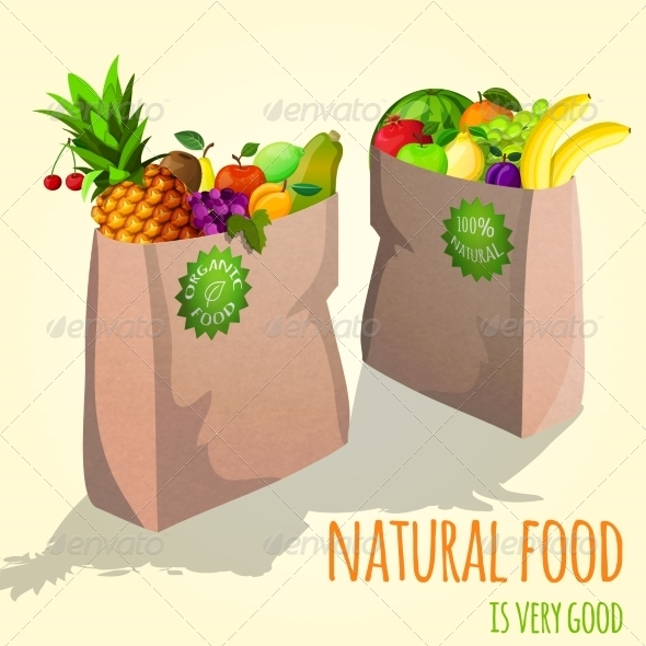Fruit in Paper Bags
